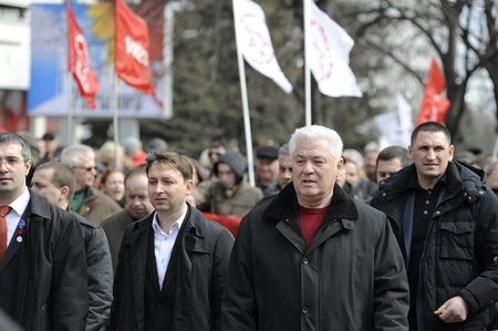 voronin: Former President of Moldova and presently member of Communist Party Editorial
