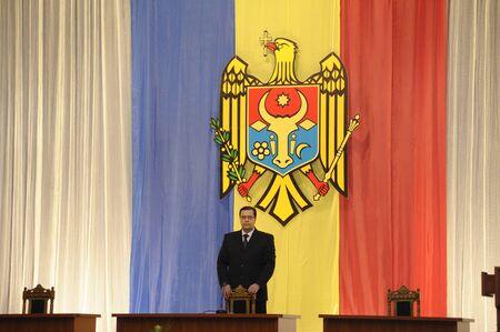 feestelijke opening: Marian Lupu, waarnemend president van de Republiek van 2010 tot 2012 tijdens de inauguratie van Moldavië president Nicolae Timofti, 23 maart 2012 in Chisinau, Moldavië Redactioneel