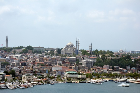 Panorama view of Istanbul, view from Galata Tower  Turkey Stock Photo - 17723711