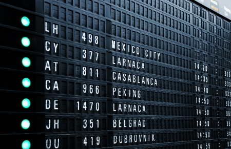 Airport departure board   Stock Photo - 17723619