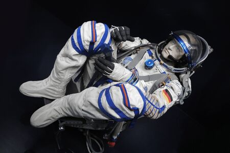 human representation: Human representation of an astronaut display in museum Editorial