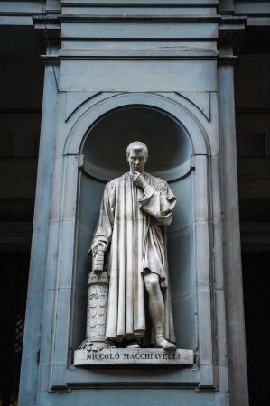 humanist: Statue of Nicollo Macchiavelli, the famous Italian  historian, politician, diplomat, philosopher, humanist and writer in Uffizi Gallery, Florence, Italy