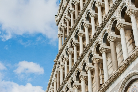 Lateral and unique view of Duomo Santa Maria Assunta in Pisa  Italy