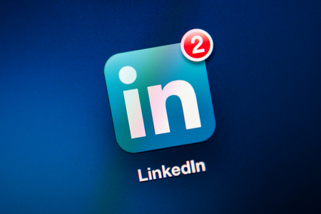NEW YORK - NOVEMBER 13  Photo of LinkedIn Icon on a mobile tablet  Four LinkedIn users have filed a lawsuit accusing the business-oriented social network of accessing their e-mail accounts without permission, harvesting the addresses of their contacts and Banco de Imagens - 68080421