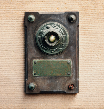 Doorbell - vintage style made from steel and copper photo