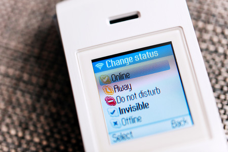 CALIFORNIA, UNITED STATES - FEBRUARY 01, 2014: Skype Phone with distinkt Skype status. The phone is produced by Skype and povides VoiP communication via internet. Skype had 663 million registered users at the end of 2010