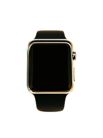 Smart watch wearable device isolated with black screen