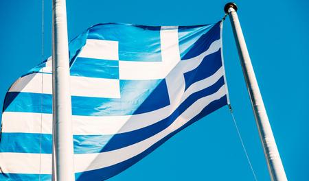 comit� d entreprise: drapeau grec devant le b�timent de la Commission europ�enne � Bruxelles