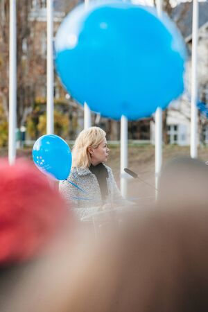 dignity: STRASBOURG, FRANCE - DEC 09, 2015: Marja Ruotanen, Director of Human Dignity and Equality speech during the first European Day on the Protection of Children against Sexual Exploitation and Sexual Abuse