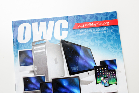 the other world: FRANKFURT, GERMANY - JANUARY 14, 2015: OWC Other World Catalog - Other World Computing is a US-based computer hardware company that was founded in 1988 selling mostly Apple upgrades