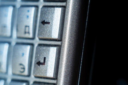 qwerty: Enter button on old smartphone full qwerty keyboard