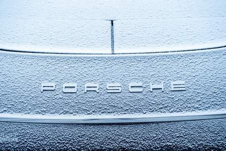 automaker: PORSCHE logotype covered with snow flakes. On 18 September 2015, the United States Environmental Protection Agency EPA issued a notice of violation of the Clean Air Act to German automaker Volkswagen Group, after it was found that the car maker had intent
