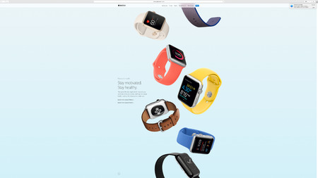PARIS, FRANCE - MAR 23, 2016: Results of the latest Apple keynote with the Apple.com website presenting the new straps for Apple Watch - You at a glance