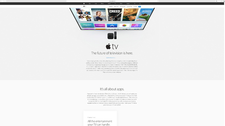 keynote: PARIS, FRANCE - MAR 23, 2016: Results of the latest Apple keynote with the Apple.com website presenting the future of television, Apple TV Editorial