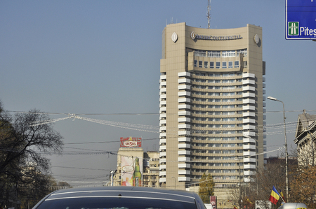 intercontinental: BUCHAREST, ROMANIA - NOV 28, 2008: Intercontinental hotel in the center of Bucharest, Romania
