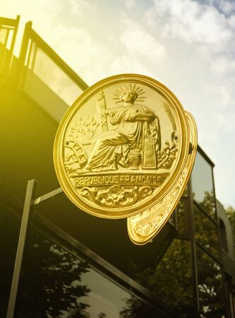 indivisible: The Great Seal of France as seen on the Champs-Elysees. The Great Seal of France (French: Grand Sceau de la Republique francaise) is the official seal of the French Republic.