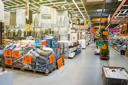 Diy department store stock photos royalty free business images bucharest romania apr 1 2016 interior of hornbach the german diy solutioingenieria Image collections