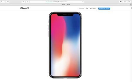PARIS, FRANCE - SEP 12, 2017: Apple Computers website on Safari Browser showcasing latest Apple products - showcasing latest iPhone X 10
