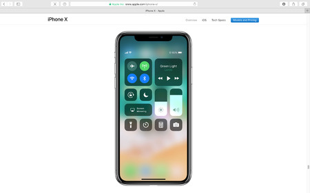 PARIS, FRANCE - SEP 12, 2017: Apple Computers website on Safari Browser showcasing latest Apple products - showcasing latest iPhone X 10 and the dashboard screen