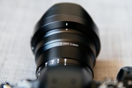 PARIS, FRANCE - JUN 30, 2018: New Panasonic Lumix DMC-GH5 - and newest Leica Vario-Elmarit 8-18 Micro Four Thirds System digital still and video camera with 4K 10 bit Video recording internal capability