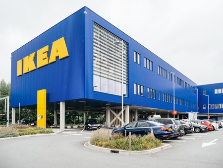 DELFT, NETHERLANDS - AUG 23, 2018: Ikea furniture shop in Delft, headquarter of the global furniture supermarket chain store