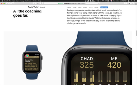 London, United Kingdom - September 12, 2018: Coaching app Apple Watch wearable computer, seen on computer MacBook display after Apple Computers product launch Editorial