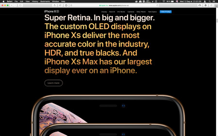London, United Kingdom - September 12, 2018: Latest golden Apple iPhone XS iPhone XS Max iPhone X R with OLED smartphone computer, seen on computer MacBook display after Cupertino keynote product launch