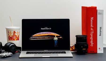 London - September 13, 2018: Apple Computers internet website on 15 inch 2018 MacBook Retina in room environment showcasing iPhone Xs Max R Keynote in Cupertino Phil Schiller availability to order phones