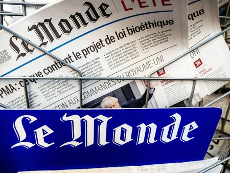 Paris, France - Jul 24, 2019: Boris Johnson appears on cover page of the French Le Monde newspaper as he becomes UK United Kingdom Prime Minister