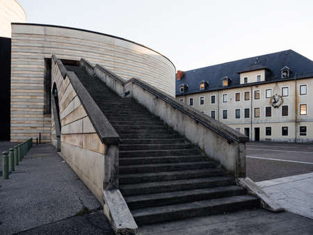 Staircase to CineMalraux Curial Cinema building