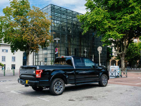 Rear view of new F-150 Ford a light-duty truck marketed as full-size pickup trucks Éditoriale