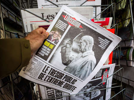newspaper at press kiosk with front page paying tribute to Prince Philip, Duke Of Edinburgh