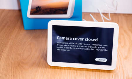 Camera cover closed message on the new Amazon Echo Show 8 IOT
