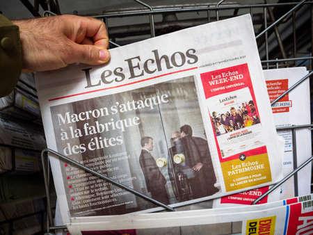 Emmanuel Macron closing ENA Ecole nationale dadministration, the symbol of an elite school
