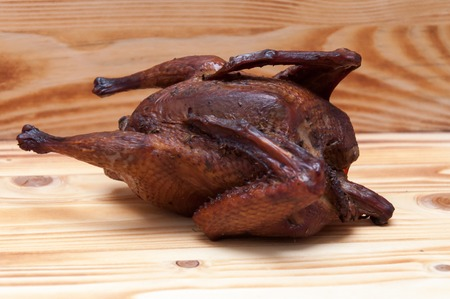 Smoked chicken slowly cooked with steam