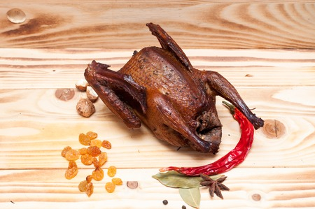 Smoked pigeon prepared as special dish 스톡 콘텐츠