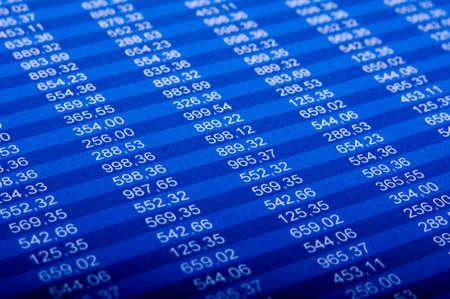 hoja de calculo: Informe financiero