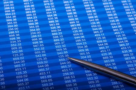 data sheet: Financial excel sheet