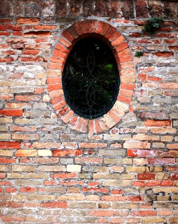 redbrick: Window on redbrick background