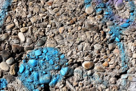 vandal: Urban blue graffiti Stock Photo