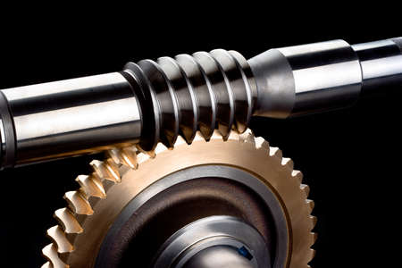 steel and brass worm gear box