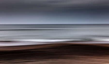 panning: sea waves in panning