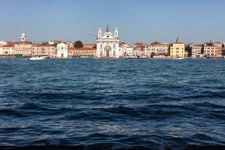 ヴェニスのジュデッカ島からのサンタ ・ マリア ・ デル ・ ロザリオ聖堂ビュー 写真素材
