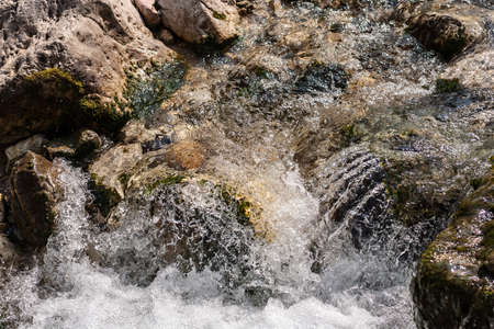 sparkling water of a mountain stream
