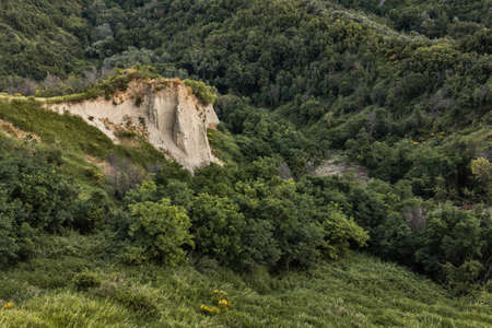 badlands in the wood in Lazio