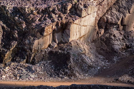 porphyry quarry in a valley of Trentino