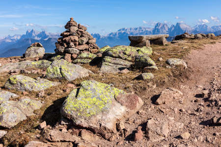 mountain landscape in the background of the Dolomites 版權商用圖片