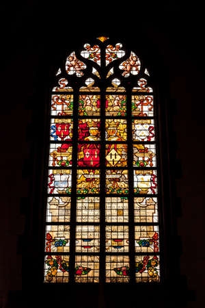 Multicolor gothic church window