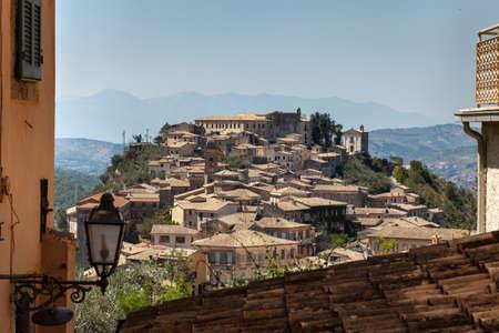 view of a medieval village in Lazio