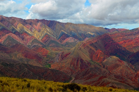 The magical colors of Hornocal, the hill of fourteen colors, Humahuaca, Jujuy, Argentina